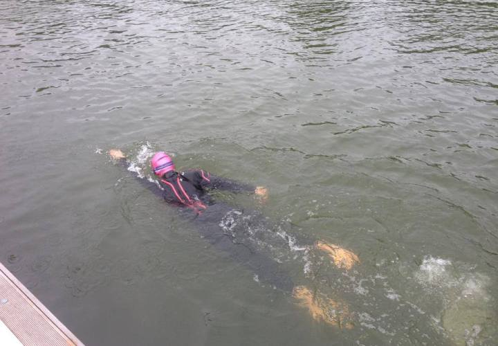 A photo of me swimming at HOWSC