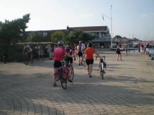 Leaving the final ferry in Hamble