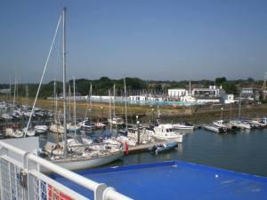 Lymington sea baths (taken from the ferry)