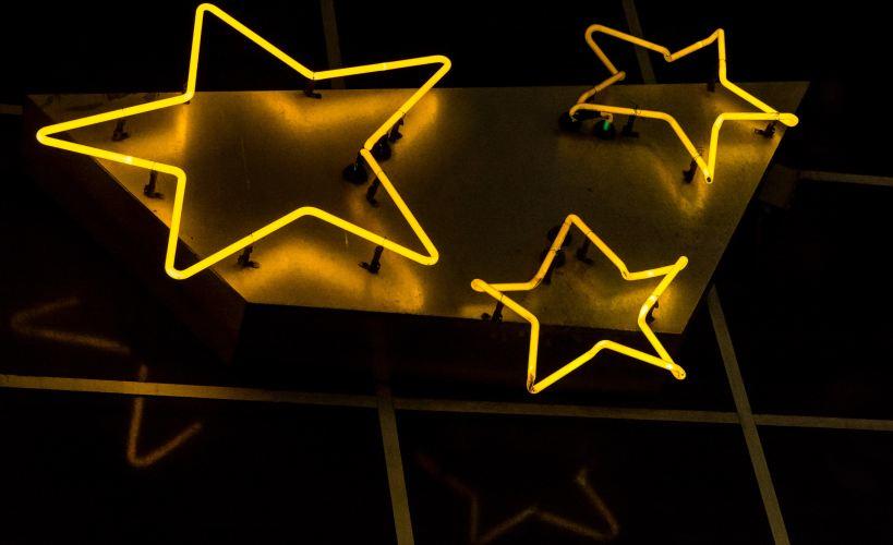 Neon stars.