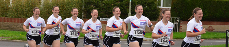Montage of Tamsyn running at Gosport Half Marathon