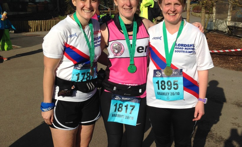 Tamsyn, Teri and Luana after Bramley 20