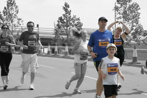 James and his family in the Olympic Park Run