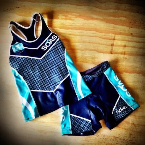 Racing SOAS tri top and shorts