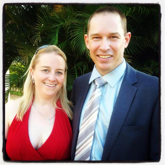 My beautiful sister Bryony and her husband Jonno