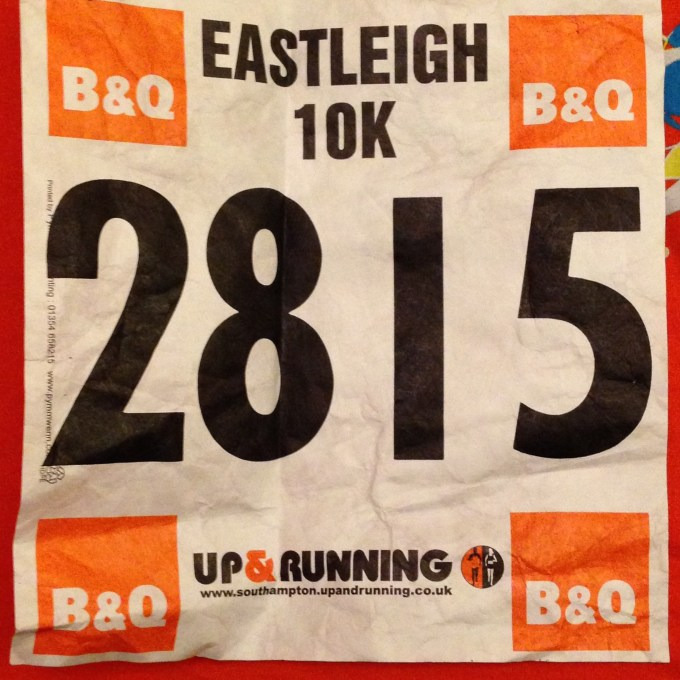 My Eastleigh 10k number