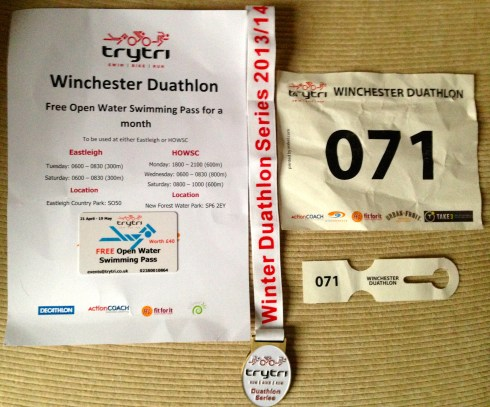 Winchester Duathlon goodies