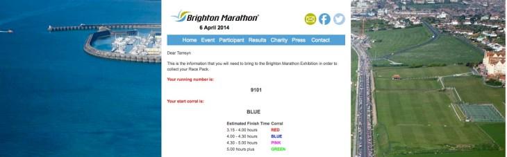Brighton marathon info