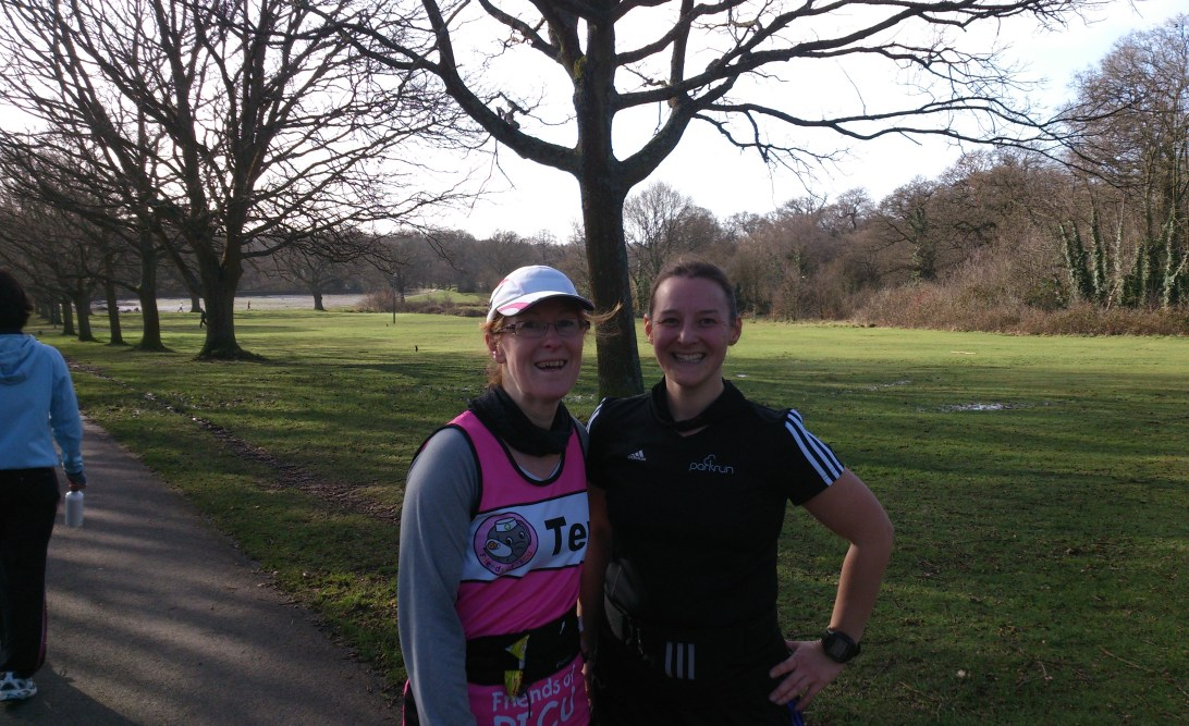 Tamsyn and Teri after parkrun