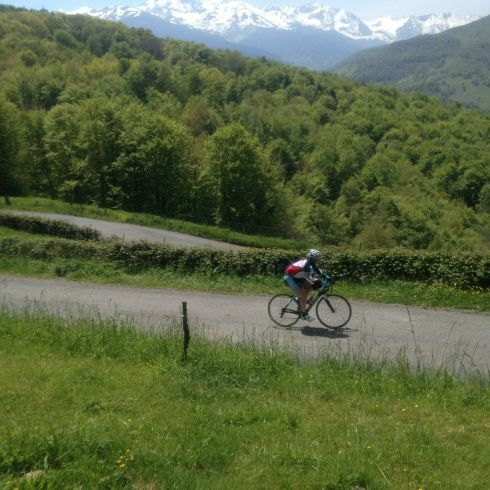 Cycling up Col de Palomieres