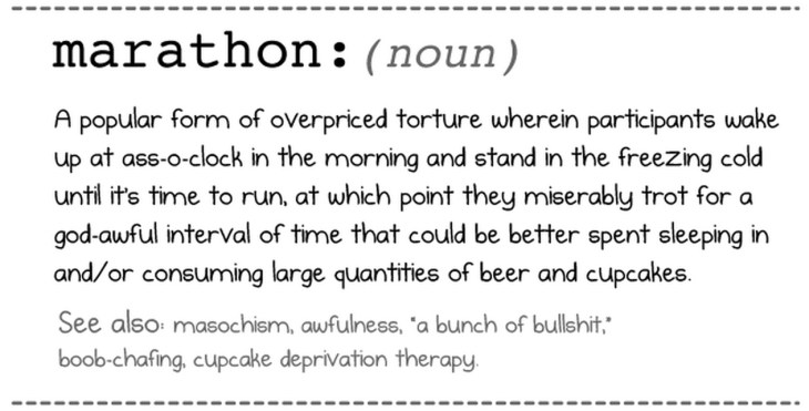 Marathon definition from The Oatmeal