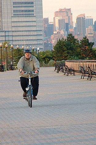 Scott Cutshall riding a bike