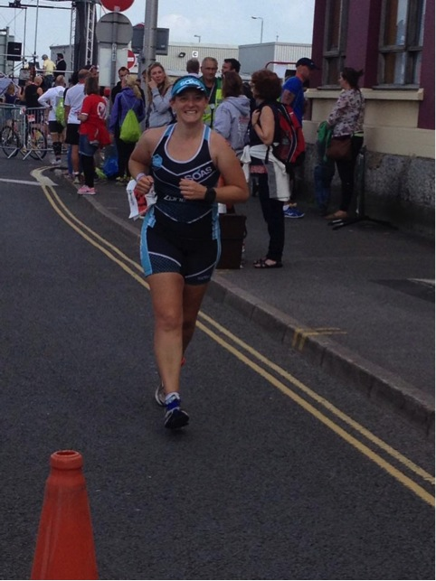 Tamsyn running in Weymouth.