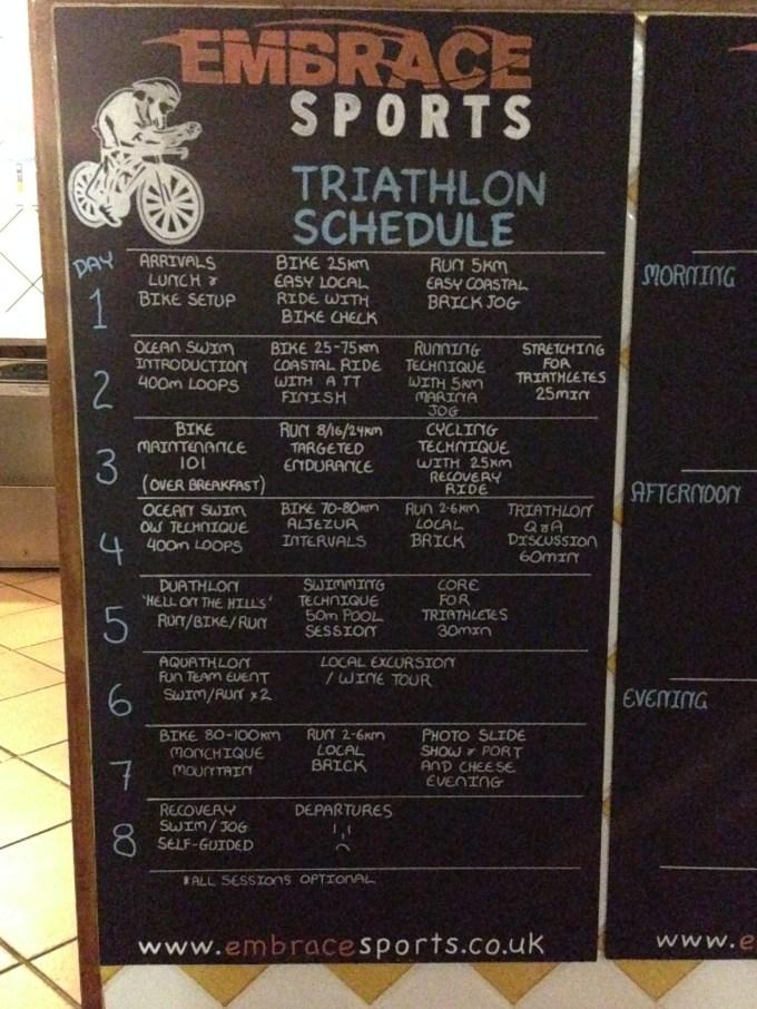 Triathlon week after party camp