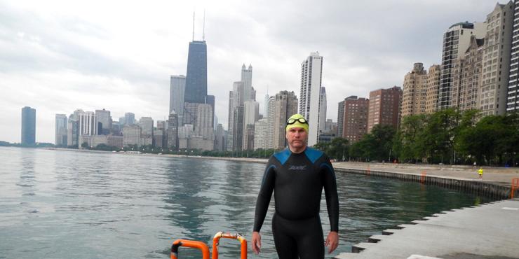 Dan Hyatt wearing a wetsuit