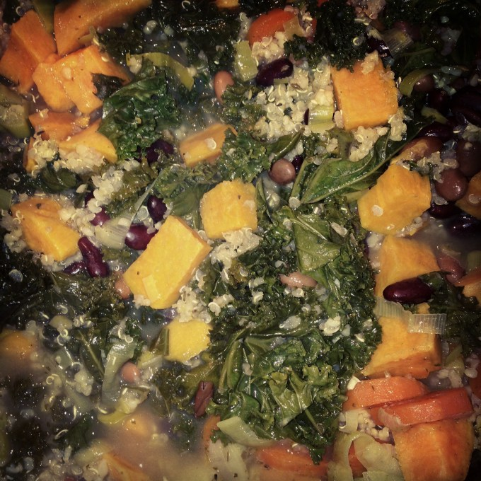 Kale and quinoa stew