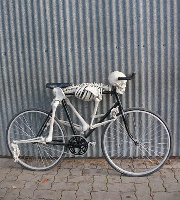 skeleton bicycle