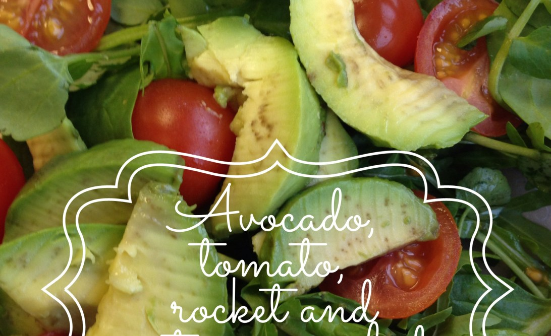 Avocado, tomato, rocket and watercress salad
