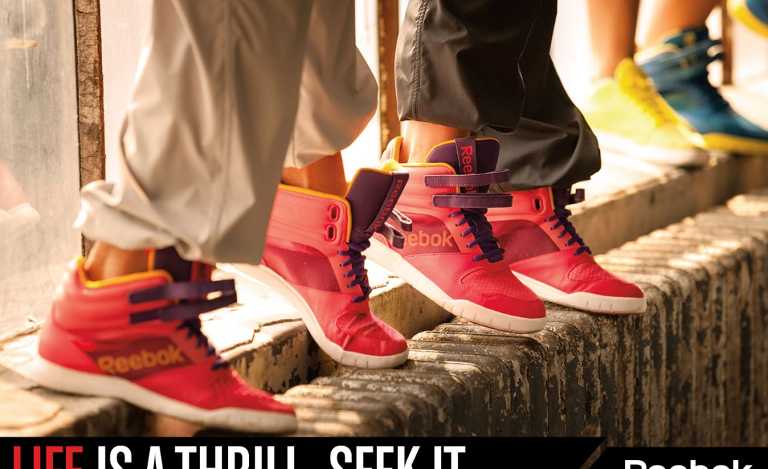 Life is a thrill. Seek it. Reebok