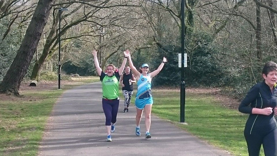 Tamsyn and Liz at parkrun