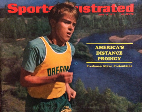 Sports Illustrated magazine cover with Steve Prefontaine on it