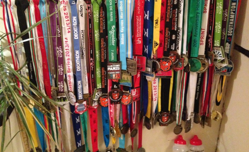 Rows of medals
