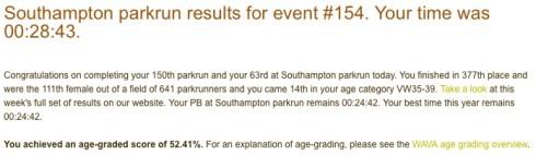 Southampton parkrun #154