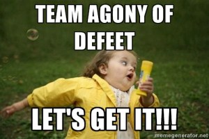 Agony of defeet meme