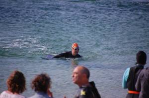 Finishing the Scilly Swim Challenge