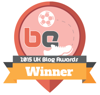 2015 UK Blog Awards Sports Blog Winner