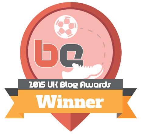 2015 UK Blog Awards Sports Blog Winner