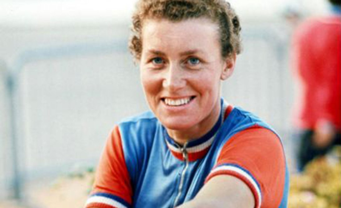 Mid shot of Beryl Burton