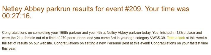 Netley Abbey parkrun 209 23 Jan 2016