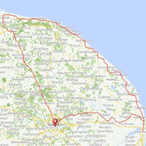 Tour de Y Norfolk route