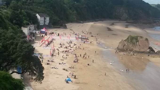 The beach at Tenby.