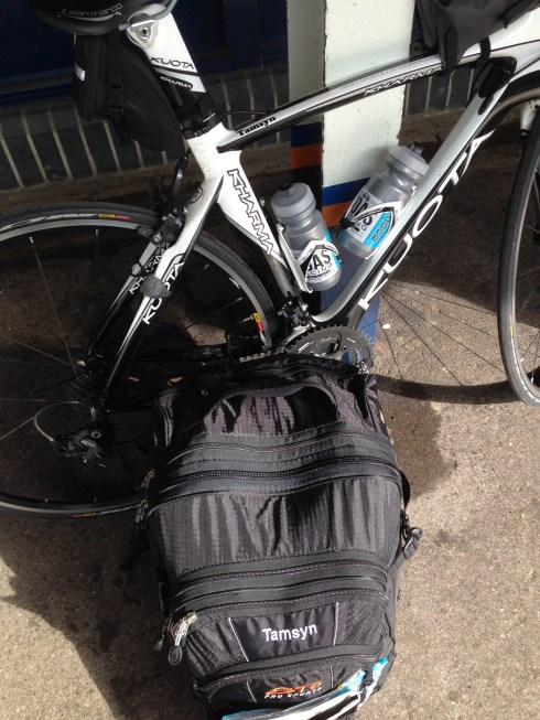 Tamsyn's bike and bag