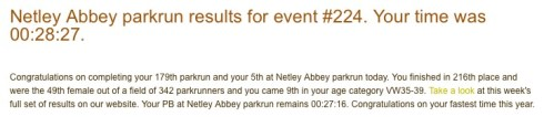 Netley Abbey parkrun 7th May 2016