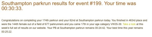 parkrun 2nd April