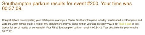 parkrun 9th April 2016
