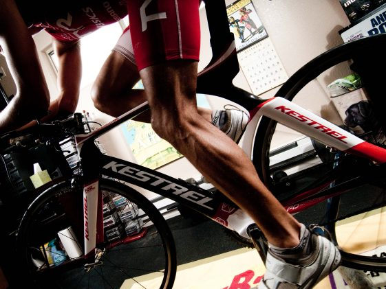 Man on turbo trainer © Nick Salazar