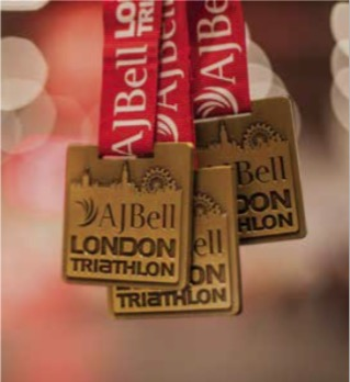 AJ Bell London Triathlon Medals