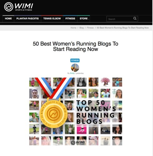 WIMI 50 Best Women's Running Blogs