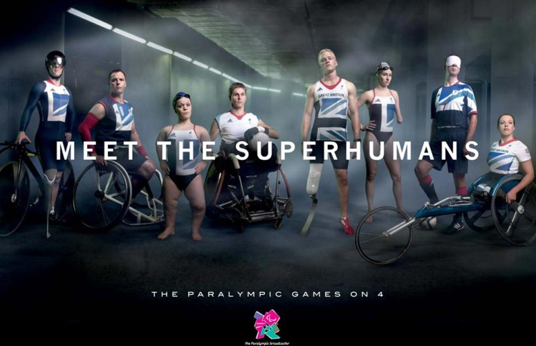 We are the superhumans - Paralympic games poster