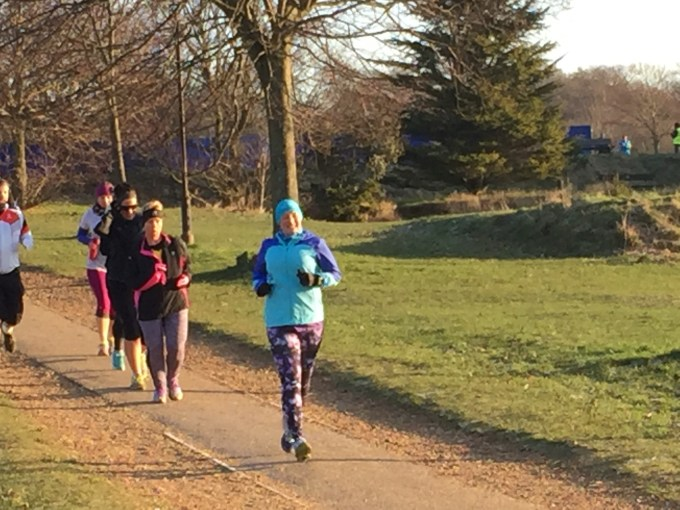 Trying out my new running tights at Netley Abbey parkrun