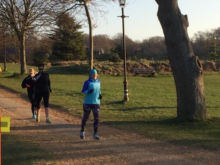 Tamsyn running at Netley Abbey parkrun