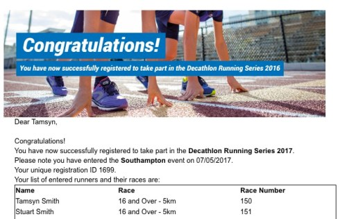 Decathlon 5k 2017