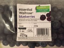 Carton of blueberries