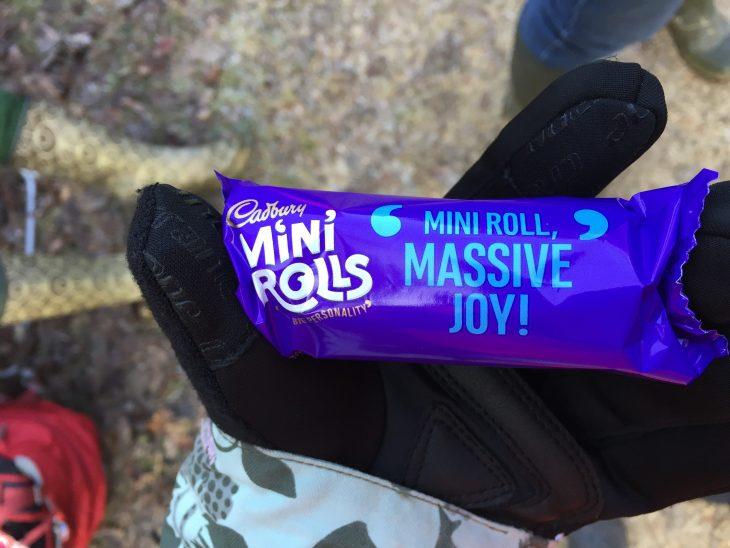 Close up of a mini roll