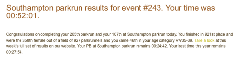 Southampton parkrun 4th February