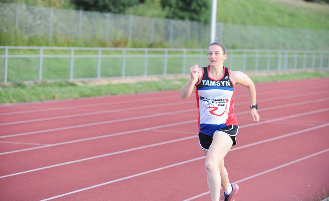 Tamsyn running at Mile of Miles